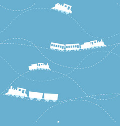 seamless pattern with locomotive vector image