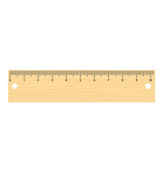 short ruler icon flat style vector image