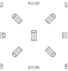 Sleeping bag pattern seamless vector