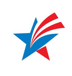 Star - logo template usa vector