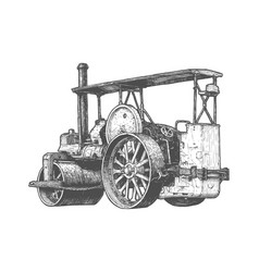 steam powered roller vector image