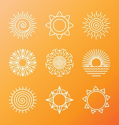 summer concepts in linear style vector image