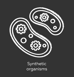 Synthetic organisms chalk icon engineering vector