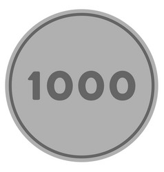 Thousand silver coin vector