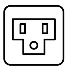 Usa socket icon outline style vector