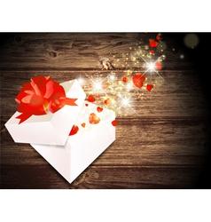 Valentine Day Magic Gift vector image