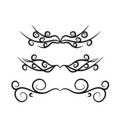 Vintage footer set symbol icon design beautiful vector
