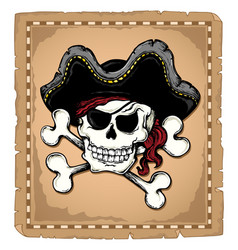 vintage pirate skull theme 2 vector image