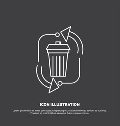 Waste disposal garbage management recycle icon vector