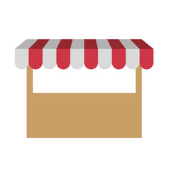 White background with store icon vector