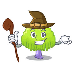 Witch green tree willow on the character vector