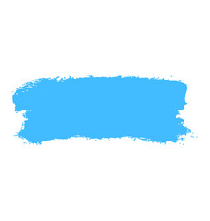 blue paint brush stroke vector image vector image