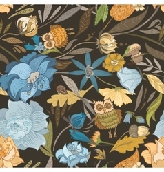 Creative Autumn Blue Pattern vector image vector image