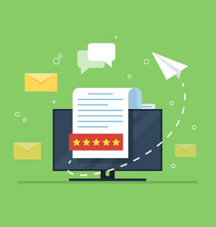 E-mail marketing the concept of an open e-mail vector