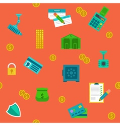 Endless money protection and banking background vector image