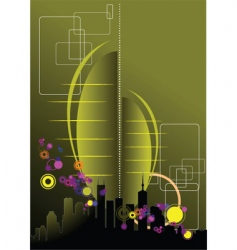 urban abstract composition vector image vector image
