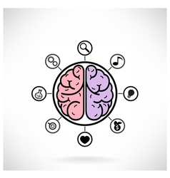 Concept of brain function vector image