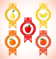 Cute labels for fruit jam vector image