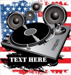 dj party vector image