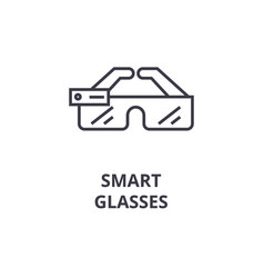 smart glasses line icon outline sign linear vector image