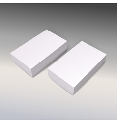 White product cardboards package boxes mockup vector image
