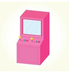 Arcade machine cabinet isolated vector image