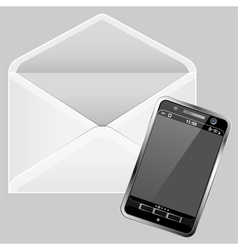envelope and smartphone vector image vector image