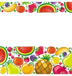 fruit background series vector image vector image