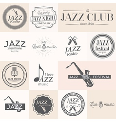 jazz label vector image