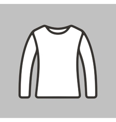 Jumper icon on background vector image