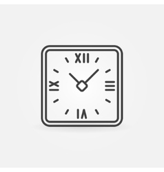 Retro clock in rounded squares vector image