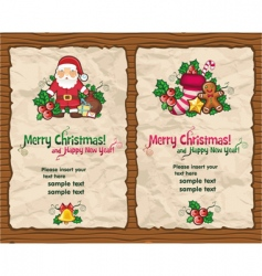 Christmas paper designs vector image vector image