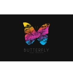 Colorful butterfly Butterfly logo Rainbow logo vector image vector image