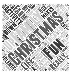 Family fun Christmas activities Word Cloud Concept vector image vector image
