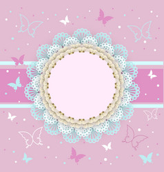 pretty pink card for girls vector image vector image