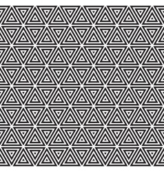 Seamless Black and White Triangles Line vector image
