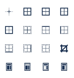Windows icons vector image vector image