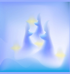 Abstract ghost and glow background vector