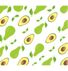 Avocado seamless pattern design vector