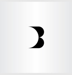 b letter black sign element icon design symbol vector image