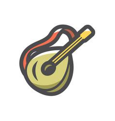 banjo musical instrument icon cartoon vector image