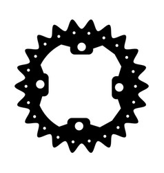 Bicycle gear icon vector