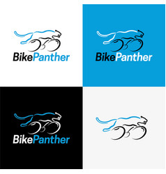 Bike panther logo and icon vector