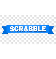 Blue tape with scrabble title vector
