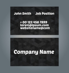 Business card design vector image