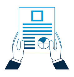 business man hand holding paper documents report vector image