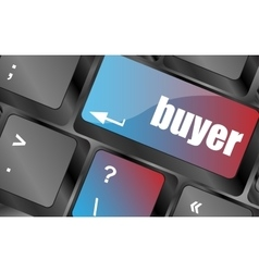 buyer button on keyboard key - business concept vector image