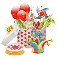 celebration box vector image