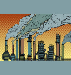 Chemical pipe factory smoke vector