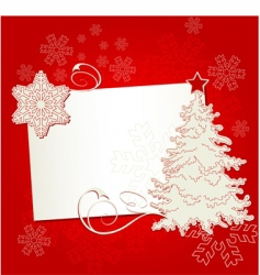 Christmas place card vector image